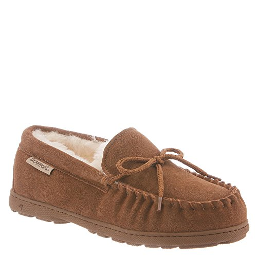 BEARPAW Women's Mindy Moccasin Slipper (9 B(M) US, Hickory Suede) from BEARPAW