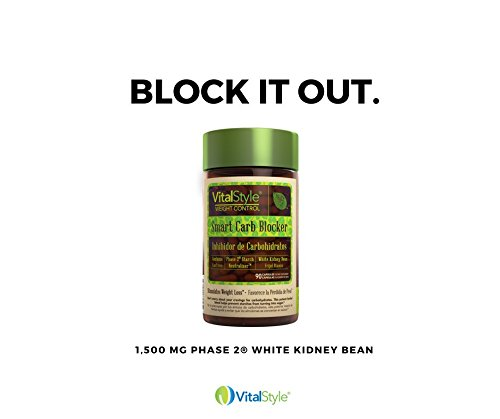VitalStyle Natural Smart Carb Blocker - 1,500 mg of Pure White Kidney Bean Extract (Phase 2 Starch Neutralizer) Supports Weight Loss, Helps Control Blood Sugar and Supress Appetite - 90 Capsules by VitalStyle (Image #3)