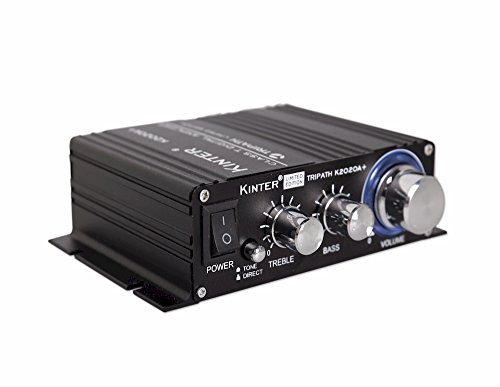 Kinter K2020A+ Limited Edition Original Tripath TA2020-020 Class-T Hi-Fi Audio Mini Amplifier with 12V 5A Power Supply Black ()