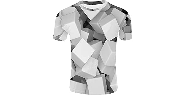 YILINGER 3D Printed T-Shirts Alphabet Letter Style Sketch Short Sleeve Tops Tees