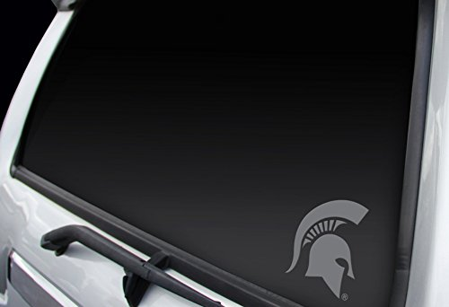 Licensed NCAA Michigan State Spartans (Spartans Logo) Professional Window Graphics Small Chrome Decal, Proudly Made In The (Decal Logo Window Graphic)