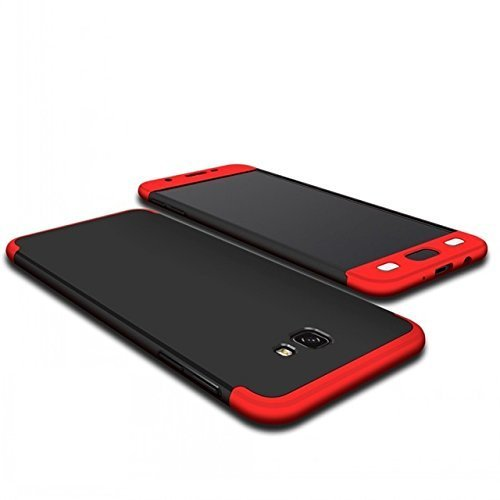 premium selection b1408 c2eb8 Mobi Case(TM) Samsung Galaxy J7 Max 3 in1 Double Dip 360 Degree Full  Protection Slim Fit Hard PC Back Cover Case for Samsung Galaxy J7 Max (Red  Black)