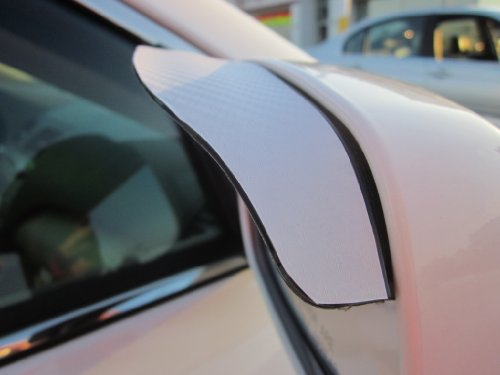 2009-2012 JAGUAR XF WHITE CARBON FIBER SIDE MIRROR VISOR RAIN GUARDS 2010 2011 09 10 11 12 by true-line