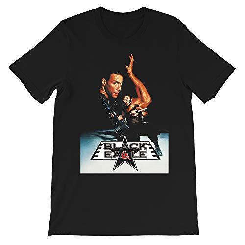 Jean Claude Van Damme Black Eagle Cyborg Bloodsport Graphic tees Gift Men's Women's Girls Unisex T-Shirt Sweatshirt (Black-L)