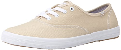 Keds Women's Champion Original Canvas Sneaker,Stone,10 M US - Dark Beige Footwear