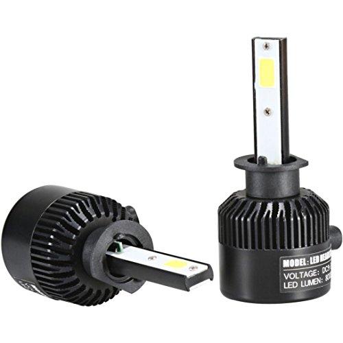 Car Headlight - Jushye H1 110W 20000LM LED Headlight Conversion Kit Car Beam Bulb Driving Lamp 6000K (Chameleon Outdoor Wall Bracket)