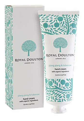 Royal Doulton Luxury Hand cream with Shea Butter, Olive Oil, Vitamin E and Jojoba - Ylang Ylang & Tuberose - Paraben Free 75ml/ 2.53 oz