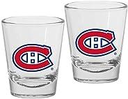 Montreal Canadiens 1.5oz Round Team Logo Shot Glass Set (Qty: 2 Glasses)