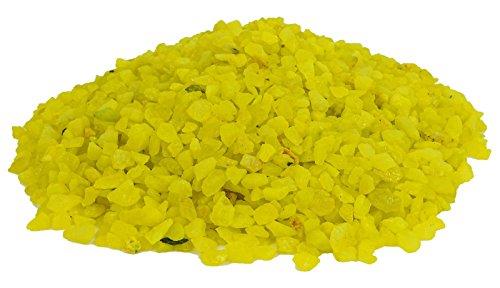 Amarillo verdoso mármoles del ornamento del acuario Grava Arena Guijarros 50 OZ