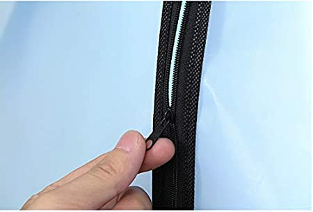 60/×100cm Fundas de ropa,Fundas Ropa PEVA Transparente Impermeable Anti-polvo a Prueba de Humedad Cremallera Completa 6pcs