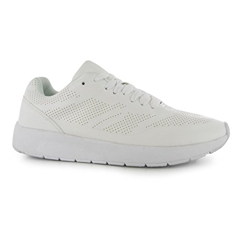 Fabric Uber Perforated Run Trainers Womens White Sneakers Sports Shoes Footwear 4g6re9G4TM