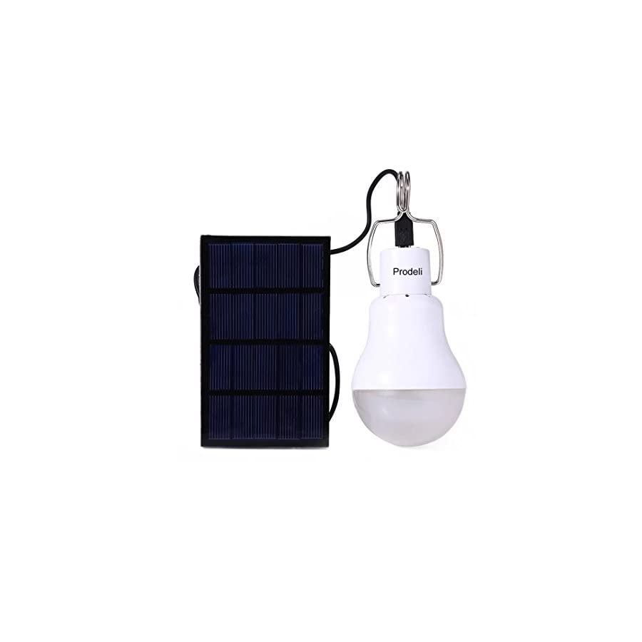 Solar Panel Powered LED Light Bulb Upgrades Portable 1.5W S 1200 130LM Solar LED Lights Lamp for Indoor Emergency Reading and Outdoor Hiking Camping Tent Lighting …