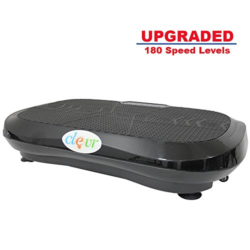 Clevr Upgraded Ultraslim Crazy Fit Full Body Vibration Platform Massage Machine, Remote Controlled, 180 Speed Levels, Built-in Blue Tooth Speaker, Max User Weight 330lbs, Black by Clevr (Image #3)