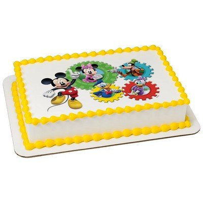 Mickey Mouse Clubhouse Edible Cake Topper or Cupcake