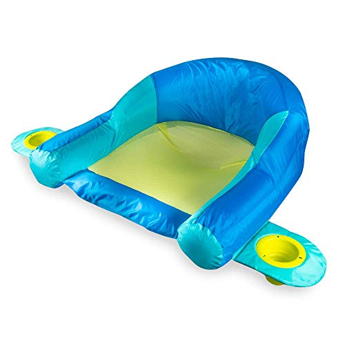 SwimWays AquaLinx Floats - Interlocking Swim Loungers for Pool or Lake - Blue