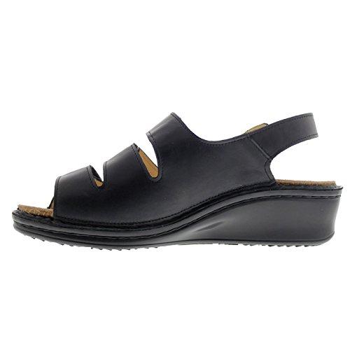 ... Finn Comfort 2664 Samoa Nappaseda Black Womens Sandals Black