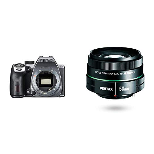 Pentax K-70 Weather-Sealed DSLR Camera, Body Only (Silver) w/Pentax DA 50mm f1.8 Lens for Pentax DSLR Cameras