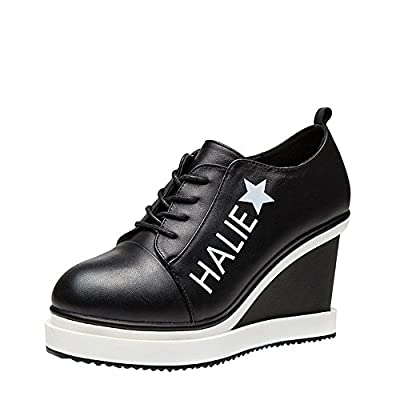 Ryse Women's Fashionable Breathable Star Word Casual Canvas Lace-up Shoes