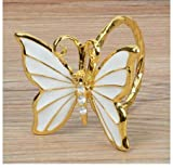 KathShop Butterfly Napkin Buckle Golden Silver Luxury Napkin Ring Table Decoration