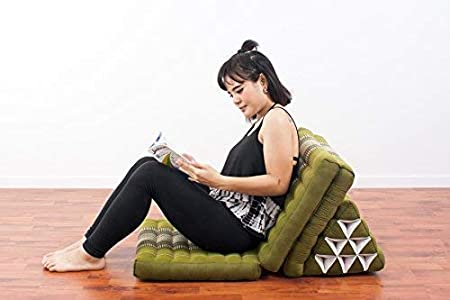Anthracite Black 170x53x30 Kapok Leewadee Foldout Triangle Thai Cushion