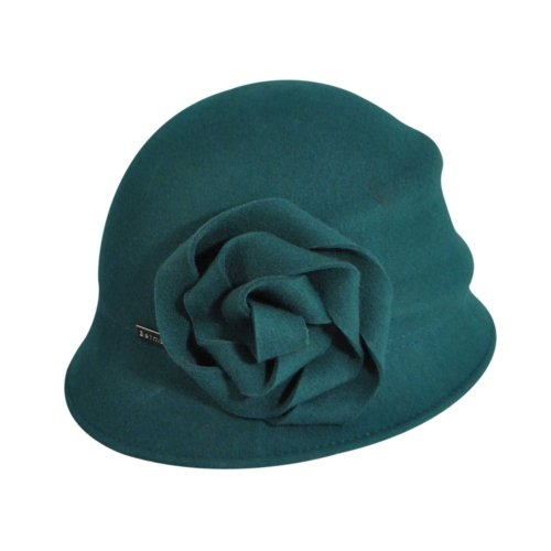 1930s Style Hats | 30s Ladies Hats Betmar Womens Alexandrite Wool Trilby Hat with Flower Trim  AT vintagedancer.com