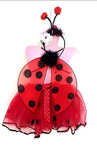 [Small Zise 3 Red Little Girl Lady Bug Costume] (Ladybug Soft Costumes)