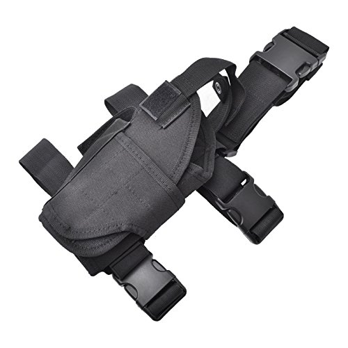 Cisno Drop Leg Adjustable Left Handed Tactical Thigh Pistol Gun Holster