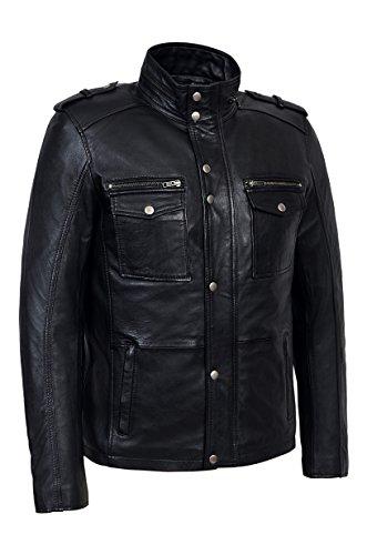 Pelle Di Uomo Reale In Agnello Nappa 5540 Gents Pecora Soft Black Pappatutto Designer 8r8zqwZX