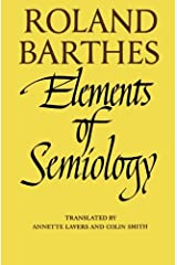 Elements of Semiology Paperback