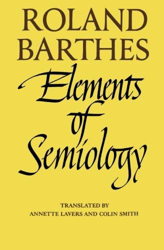 Elements of Semiology