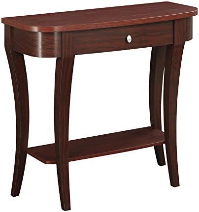 Convenience Concepts Newport Console Table, Mahogany