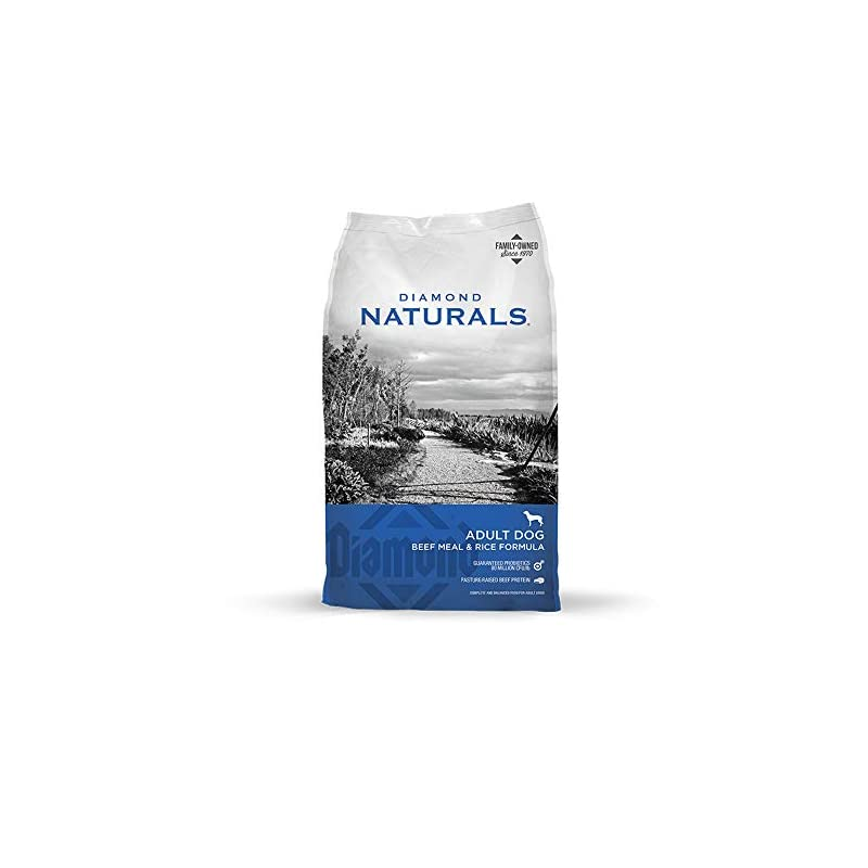 dog supplies online diamond naturals adult real meat recipe premium dry dog food with grain and real pasture raised beef protein 40lb