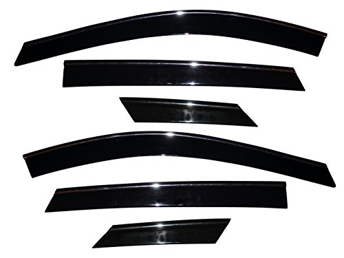 Auto Ventshade 796003 Low Profile Ventvisor Side Window Deflector with Chrome Trim, 6-Piece Set for 2010-2017 Cadillac SRX