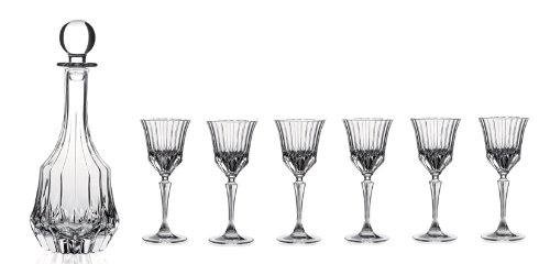 RCR Crystal Adagio Collection 7-Piece Liquor Set