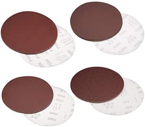 - 8 Inch Hook und Loop Sanding Discs, 120 Grain Aluminum Oxide Abrasive Sandpaper 5 Pieces