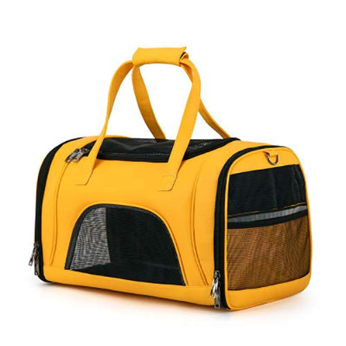 Pet Backpack,Out-of-Port Carrying Bag Breathable Large-Capacity Cat Bag Pet Handbag(color  Yellow)