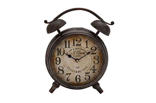 Deco 79 Metal Table Clock 13