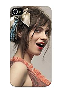[WtzgGtP1675CoPPC]premium Phone Case For Iphone 4/4s/ Zooey Deschanel Tpu Case Cover(best Gift Choice)