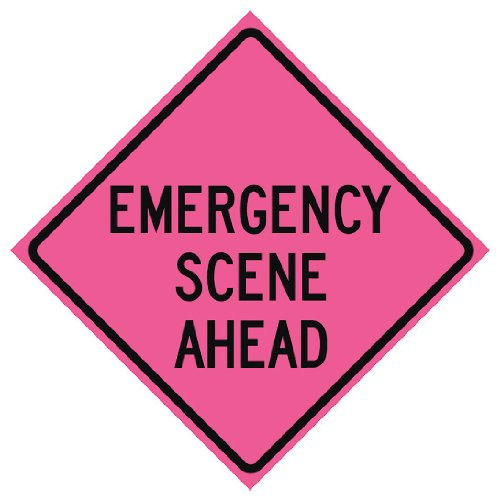 Usa-sign - 669-C/48-SBFP-ES - Traffic Sign, Emergency Scene, H (Emergency Scene)