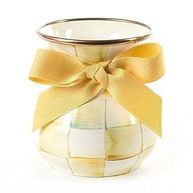 Mackenzie Childs Parchment Check Enamel Vase - Short