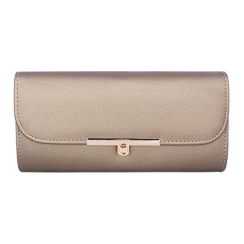Bag Pewter PU Classic Evening Inserting Damara Women's Lock Purse w104S8q