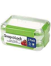 SnapLock by Progressive Snack to-Go Container - Leak-Proof Silicone Seal, Snap-Off Lid, Stackable, BPA Free