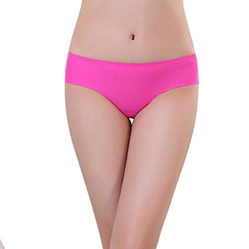 Pink con cuciture Color Pure Adeshop maniche biforcazione spalline Senza intimo Invisibile senza da senza seta donna Spandex Hot di mutande Comode di con Slip Traspirante seta xxnRqH4