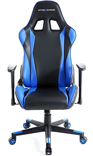41Q6dIKTQ9L - GTracing Ergonomic Office Chair Racing Chair Backrest and Seat Height Adjustment Computer Chair With Pillows Recliner Swivel Rocker Tilt E-sports Chair