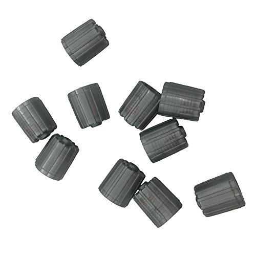 10pcs Plastic Gray Tire Valve Stem Caps TPMS Tire Cap with Gasket (Plastic Valve Cap)