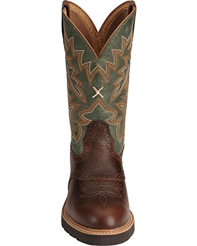 Twisted X Men's Pullon Work Boot Round Toe Cognac 9.5 D(M) US by Twisted X (Image #6)