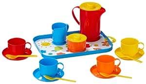 Schuster Gowi 454-15 - Juego de café para 4 personas con bandeja (18 piezas) [importado de Alemania]