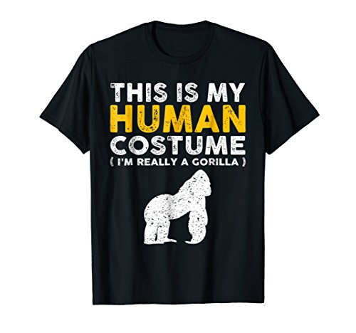 This Is My Human Costume TShirt Gorilla Family Animals Gifts -