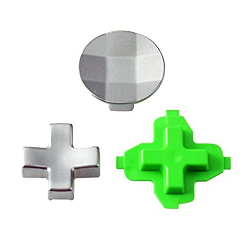 Hisonders Replacement Parts 3 in 1 Magnetic Metal Stainless Steel D-pads Kits for Xbox One Elite (Magnet For Mod)
