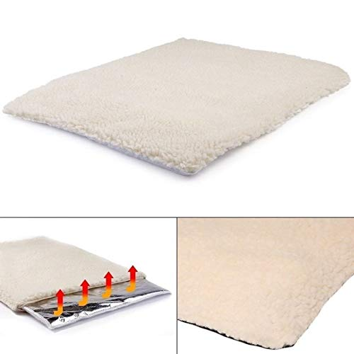 ouying1418 Self Heating Dog Cat Blanket Pet Bed Thermal Washable No Electric Blanket